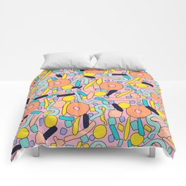 CIRCLES IN MOTION - pastel love Comforters