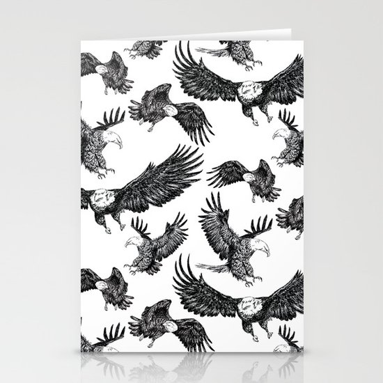 Eagles Pattern Stationery Cards