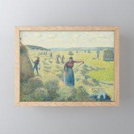Camille Pissarro - La Recolte des Foins, Eragny, 1887 Framed Mini Art Print