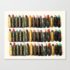Glitter Lipsticks Canvas Print
