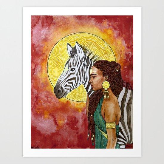 Zebra Guide Art Print