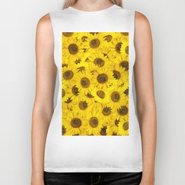 Lots of sunflowers Biker Tank