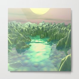 The Green Planet Metal Print