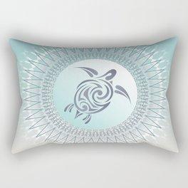 Beach Gradient Turtle Mandala Rectangular Pillow