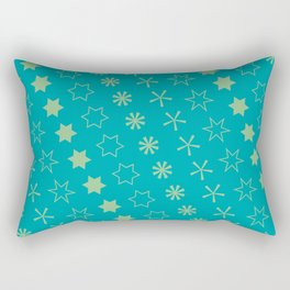 Asterisk-a-thon Blue Rectangular Pillow