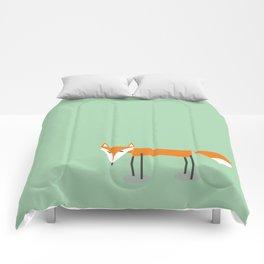 Cute little red fox foxy ladie Comforters