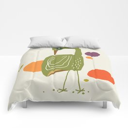 Quirky Brolga Comforters