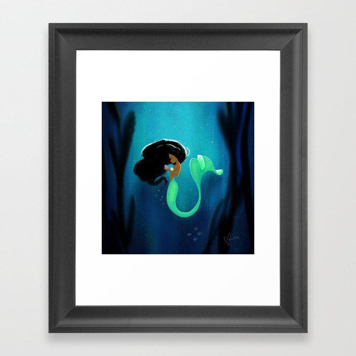 Mermaid Gerahmter Kunstdruck