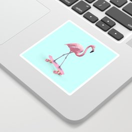 SKATE FLAMINGO Sticker
