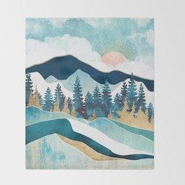 Summer Forest Throw Blanket