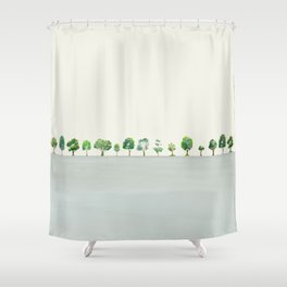 A Row Of Trees Shower Curtain