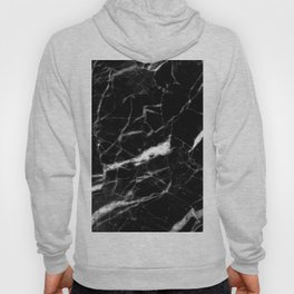 modern chic minimalist abstract black marble Hoody