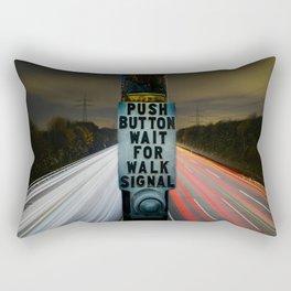 PUSH BUTTON WAIT FOR WALK SIGNAL Rectangular Pillow