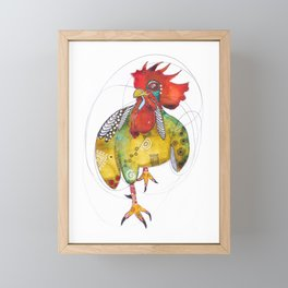 Rooster King Framed Mini Art Print
