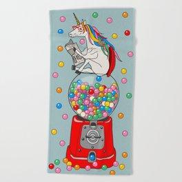 Unicorn Gumball Poop Beach Towel