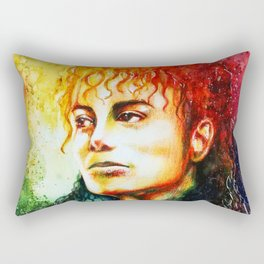 Man in the mirror Rectangular Pillow