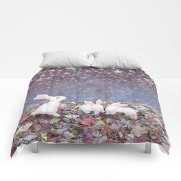 bunnies under the stars Comforters