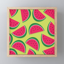 Juicy Watermelon Slices Framed Mini Art Print