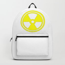 Caution Radioactive Sign In Yellow Backpack