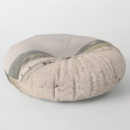 Carmel-by-the-sea beach Floor Pillow