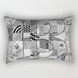 The Letter B Rectangular Pillow