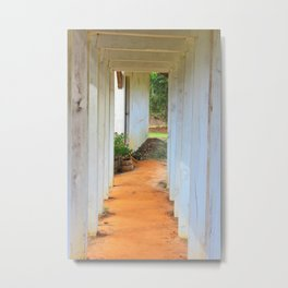 Old Florida Breezeway Metal Print