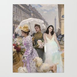 lorde in 'flower seller' by louis marie de schryver Poster