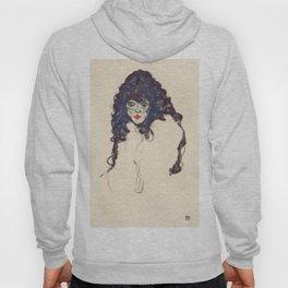 """Egon Schiele """"Frau mit schwarzem Haar (Woman with black hair)"""" Hoody"""