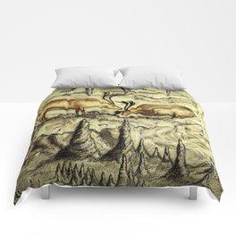 Rock Shelter Reindeer Comforters