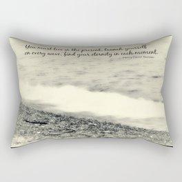 Inspirational Vintage Beach Photography Rectangular Pillow