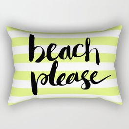 Beach Please Rectangular Pillow