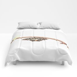 beetle and butterfly Comforters