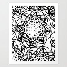 HOLLER OUT Art Print