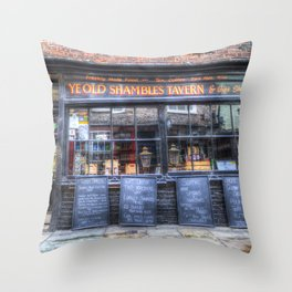 Ye Old Shambles Tavern York Throw Pillow