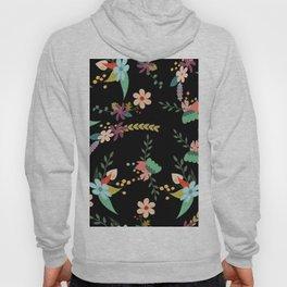 Floral pattern black Hoody