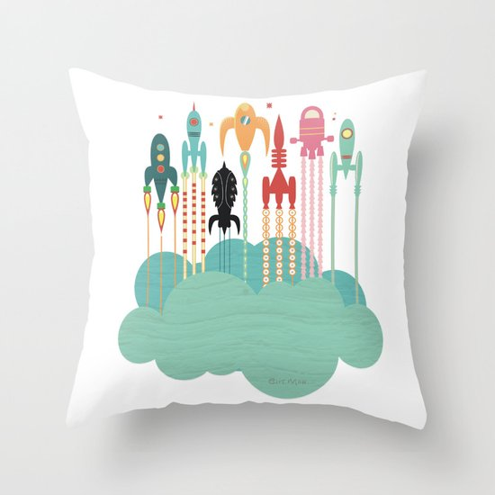 Grand départ (graphic version) Throw Pillow
