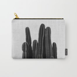Cactus Black & White Carry-All Pouch