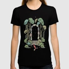 Forest Gate MEDIUM Womens Fitted Tee Black