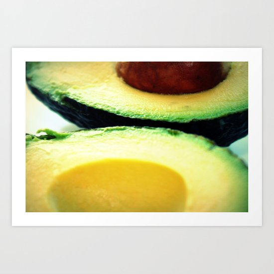 Avocado Slice Art Print