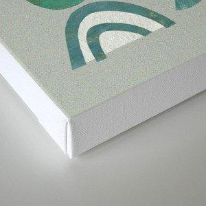 Green bits Canvas Print