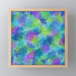 Hydrangeas Abstract Framed Mini Art Print