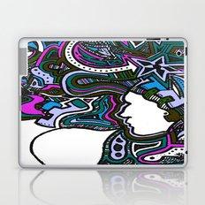 Purple Techno Laptop & iPad Skin