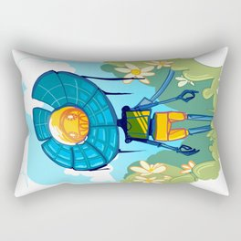 Flower Robot Rectangular Pillow