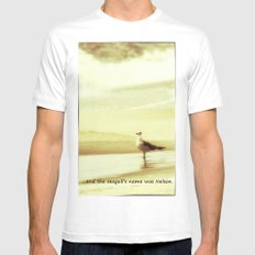 and the seagull's name was Nelson Mens Fitted Tee White MEDIUM