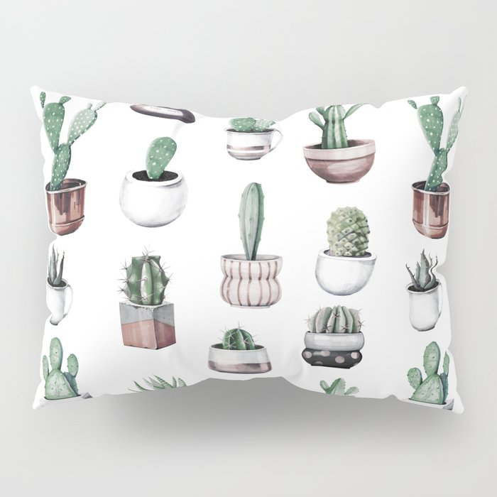 Cactus + Succulents Rose Gold Pattern by Nature Magick Pillow Sham
