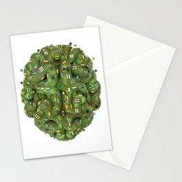 Circuit brain Stationery Cards