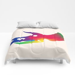 Triceratops in Colour Comforters