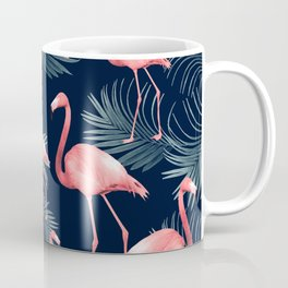 Summer Flamingo Palm Night Vibes #1 #tropical #decor #art #society6 Coffee Mug
