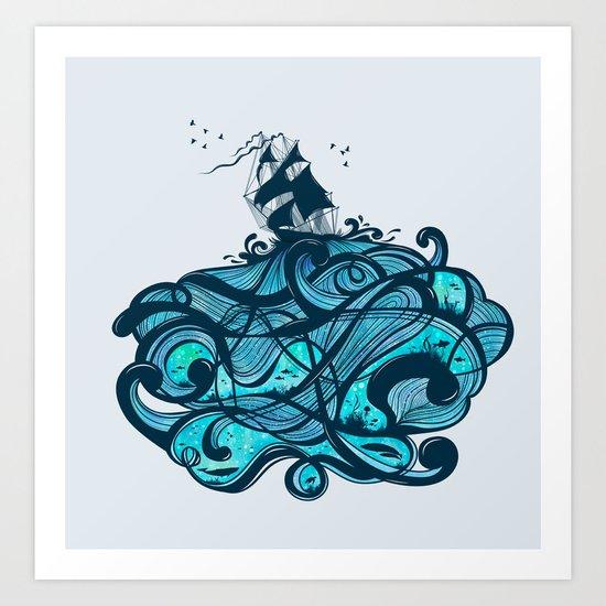 Upon The Sea Art Print
