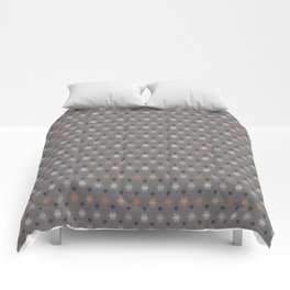 Boho Baby // Middle Eastern Metallic // Scorpion Symbol + Geometric Floral in Charcoal Comforters